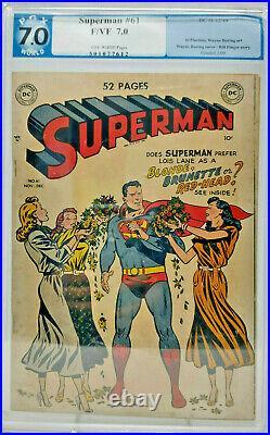 Superman #61 DC 1949 PGX 7.0 Into Kryptonite