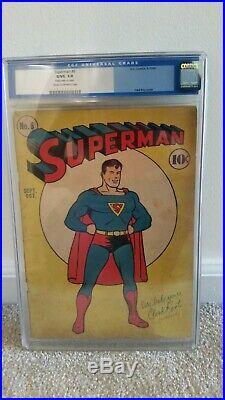 Superman #6 CGC 3.0 DC 1940 Old CGC Label All Star Comics 1 Ad Golden Age