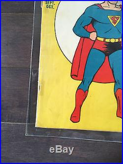 Superman # 6 Golden Age Comic 1st Splash page in Superman comic! HTF! L@@K