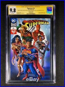 Superman #75 CGC 9.8 SS (2018) SS 5X Cavill, Fisher, Gadot, Miller, Momoa