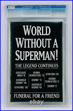 Superman #75 CGC 9.8 White Pages The Death of Superman NM/MT Key Grail 1993