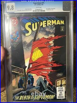Superman 75 CGC 9.8 white pages, Direct and old label! 9.9 Death! Doomsday