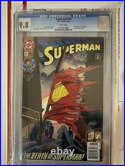 Superman 75 CGC 9.8 white pages, newsstand and old label! 9.9 Death! Doomsday
