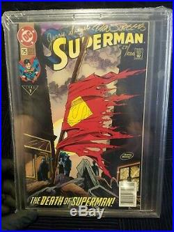 Superman #75 Death Of Superman (1993) Signed Siegel/Jurgens Comic (271/1000) COA