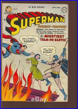 Superman #76 Batman & Superman Learn Each Other's ID For 1st Time FINE+ (83079)