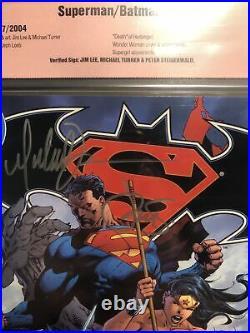 Superman Batman #10 CBCS Graded 9.8 SIGNED TURNER, Jim Lee