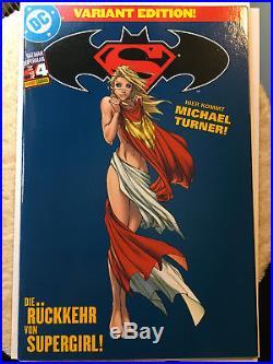Superman/Batman 4 Turner German Variant Mint With Panini Insert