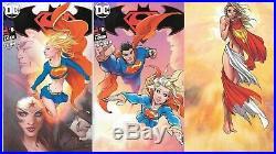 Superman Batman #8 SDCC 2017 Virgin Variant Michael Turner Comic Set Supergirl C