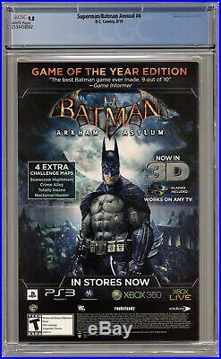 Superman Batman Annual #4A Lau Variant CGC 9.8 2010 2134458002