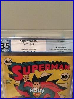 Superman Golden Age #9 PGX 3.5 DC 1941