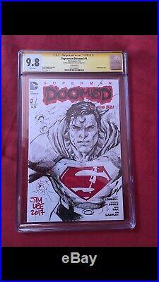 Superman Jim Lee sketch CGC 9.8