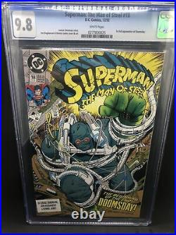 Superman Man Of Steel #18 CGC 9.8 WHITE pages First Doomsday Appearance