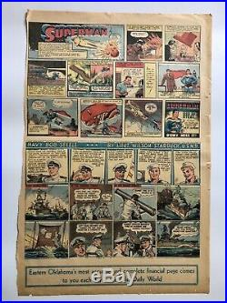 Superman Sunday Page #1A Origin Of Superman 1939 Rare Action Comics HTF