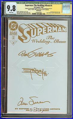 Superman The Wedding Album #1 Rrp Auto X3 Very Rare Only 250 Made Kitson Jurgens