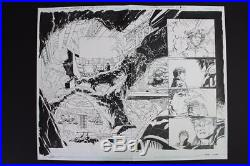 Superman Unchained #2 DSP 10 & 11 (Original Art) 2013 Jim Lee Batman Batcave