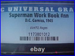 Superman Work Book Nn Highest Graded Cgc 8.5 Scarce Wp
