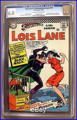 Superman's Girl Friend LOIS LANE #70 1st SA CATWOMAN 1966 SA Penguin CGC FN 6.0