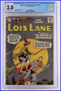 Superman's Girl Friend Lois Lane #1 CGC 2.0 GD DC 1958 1st Issue