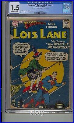 Superman's Girlfriend Lois Lane #1 Cgc 1.5 Silver Age