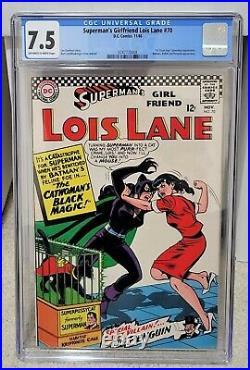Superman's Girlfriend Lois Lane #70 (1966) CGC 7.5 1st Silver Age Catwoman DC