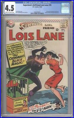 Superman's Girlfriend Lois Lane #70 CGC 4.5 1st Silver Age Catwoman