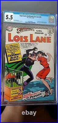 Superman's Girlfriend Lois Lane #70 CGC 5.5 1st SA Catwoman DC 1966 THE BATMAN