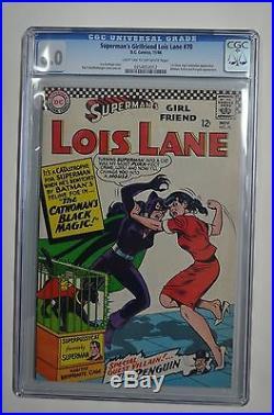 Superman's Girlfriend Lois Lane # 70 CGC 6.0 1st Silver age Cat women DC 1966