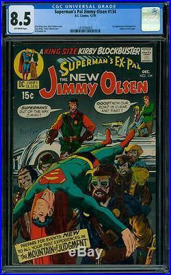 Superman's Pal. Jimmy Olsen 134 CGC 8.5 1st Darkseid NO RESERVE AUCTION