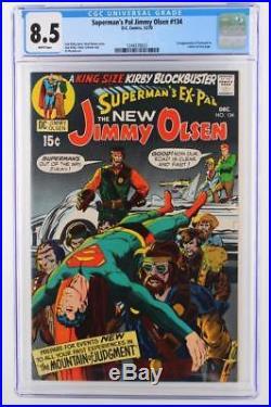 Superman's Pal Jimmy Olsen #134 CGC 8.5 VF+ DC 1970 1st App of Darkseid