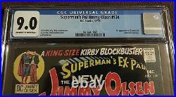Superman's Pal Jimmy Olsen 134 CGC 9.0 OWithW 1st Appearance Darkseid, Kirby Adams