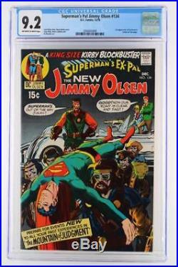 Superman's Pal Jimmy Olsen #134 CGC 9.2 NM- -DC 1970- 1st App of Darkseid