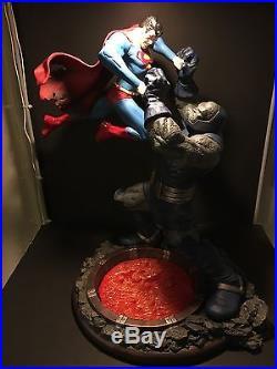 Superman vs Darkseid Statue Diorama DC Collectibles Comics 2nd Version Full Size