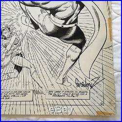 Superman vs. Wonder Woman Splash Original Art by Jose Luis Garcia Lopez! Wow