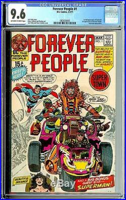 The Forever People #1 CGC 9.6 1st FULL APP OF DARKSEID! KIRBY COVER! BEAUTY
