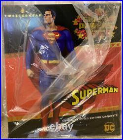 Tweeterhead DC EXCLUSIVE Superman Super Powers Statue Maquette New Open Box