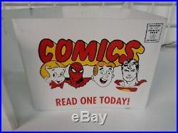 Vintage 1980's Comic Book Spinner Rack Metal Art Top Display Only Superman