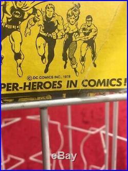 Vintage 5-Sided Comic Spinner Rack Superman Bat Man 1978 Dc Comics