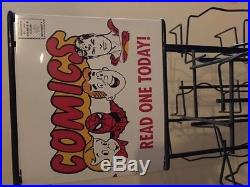 Vintage Comic Rack (1960s) - Spinning Stand - Archie + Spider-Man + Superman