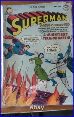 Vintage Superman Issue #76 Batman and Robin first appearance