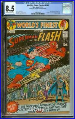 WORLD'S FINEST COMICS #198 CGC 8.5 OWithWH PAGES / 3RD SUPERMAN VS FLASH RACE 1970