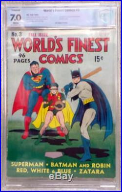 WORLD'S FINEST COMICS #3 CBCS 7.0 1st Issue 1941 Origin / 1st App The SCARECROW