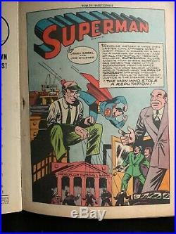 World's Finest #12 Batman Robin Superman 1943 Golden Age Ww II