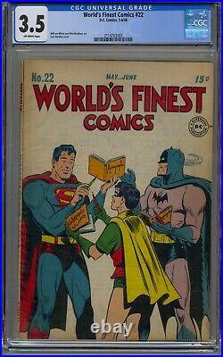 World's Finest Comics #22 Cgc 3.5 Batman Superman Golden Age
